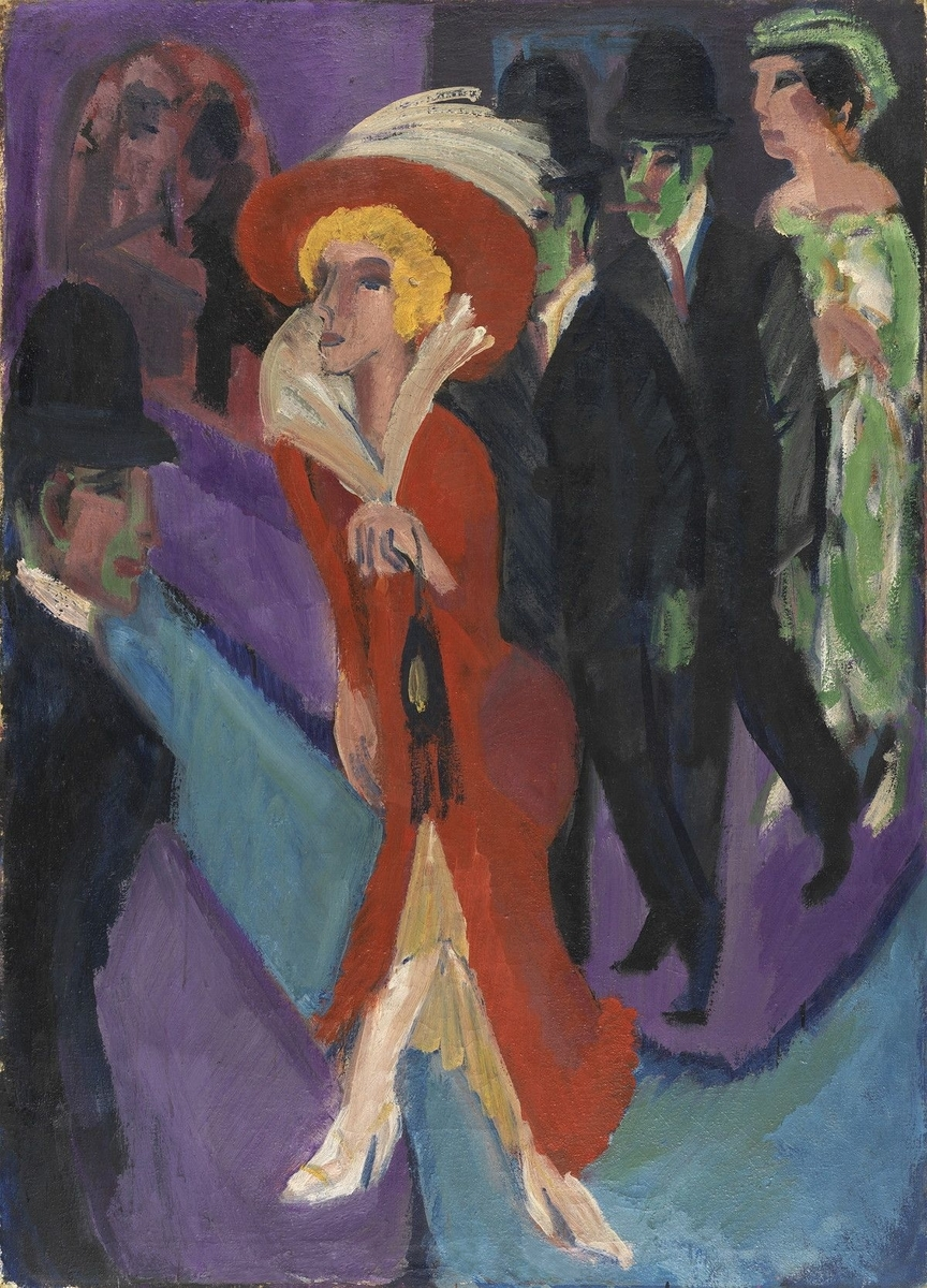 Museo de Arte Thyssen-Bornemisza Calle con buscona de rojo circa 1914-1925頃