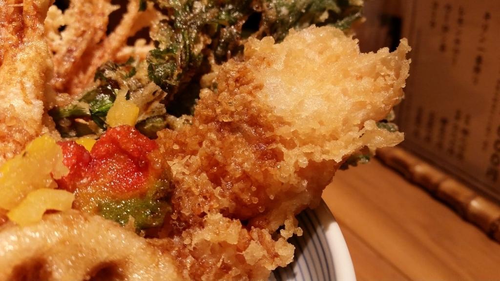 秋鮭の天ぷら