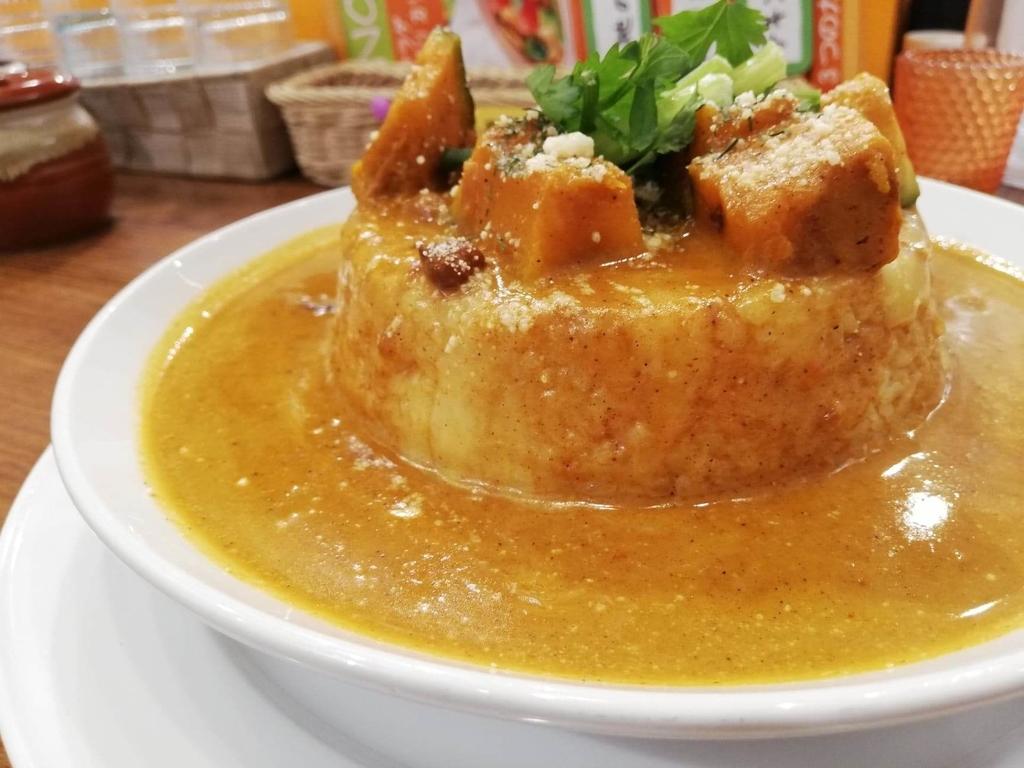 ヤミツキカリー西池袋店のホクホクかぼちゃのチーズカリー特盛のアップ