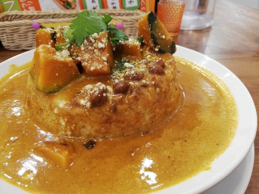 記事トップのヤミツキカリー西池袋店のホクホクかぼちゃのチーズカリー特盛