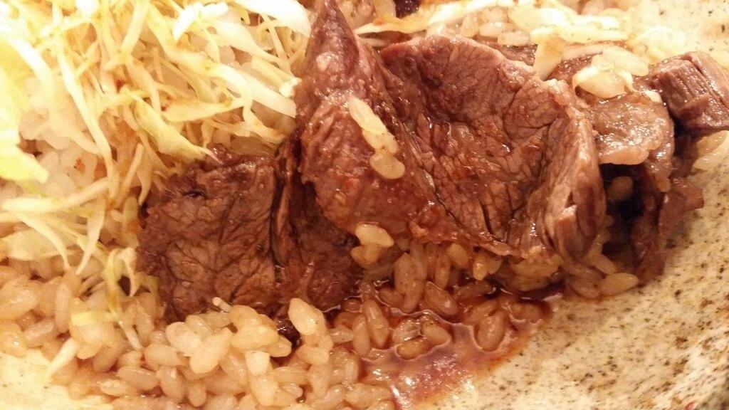 丼やまののハラミ丼肉トリプルご飯大盛りのタレ