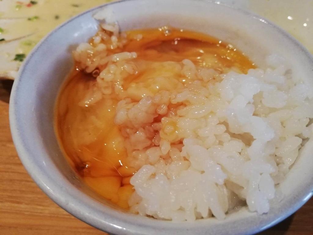 北千住『あさり食堂』の卵かけご飯