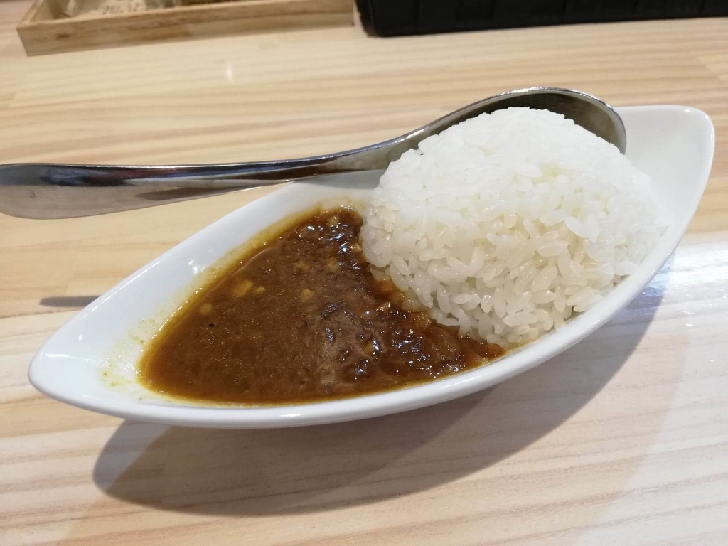 渋谷『吉法師』の『鶏清湯 青』のセットミニカレー