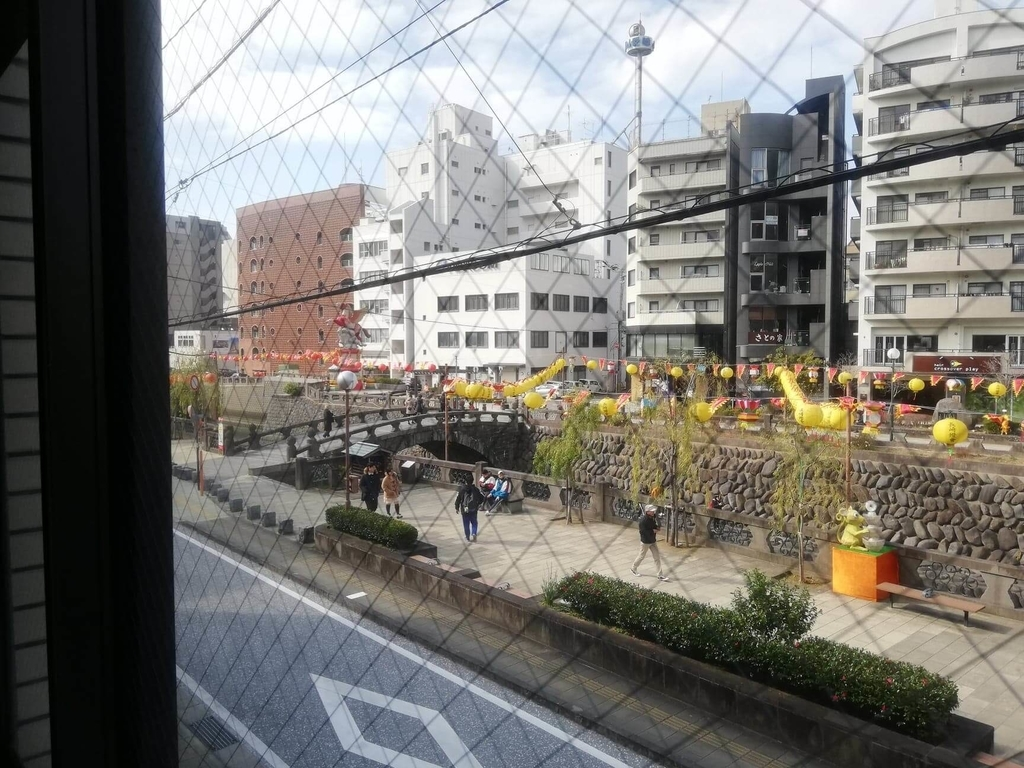 長崎『プリムローズ(primrose)』からの眼鏡(めがね)橋の眺め②