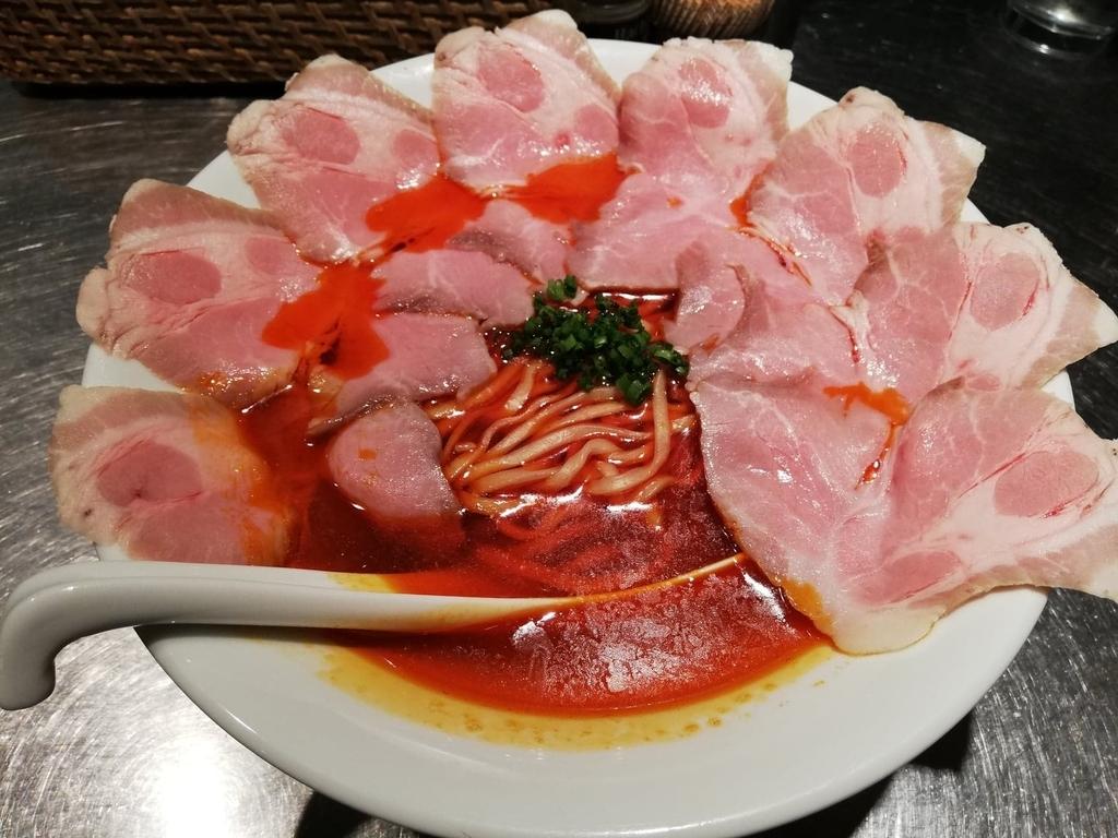 上野『さんじ』の赤潮ラーメンの写真