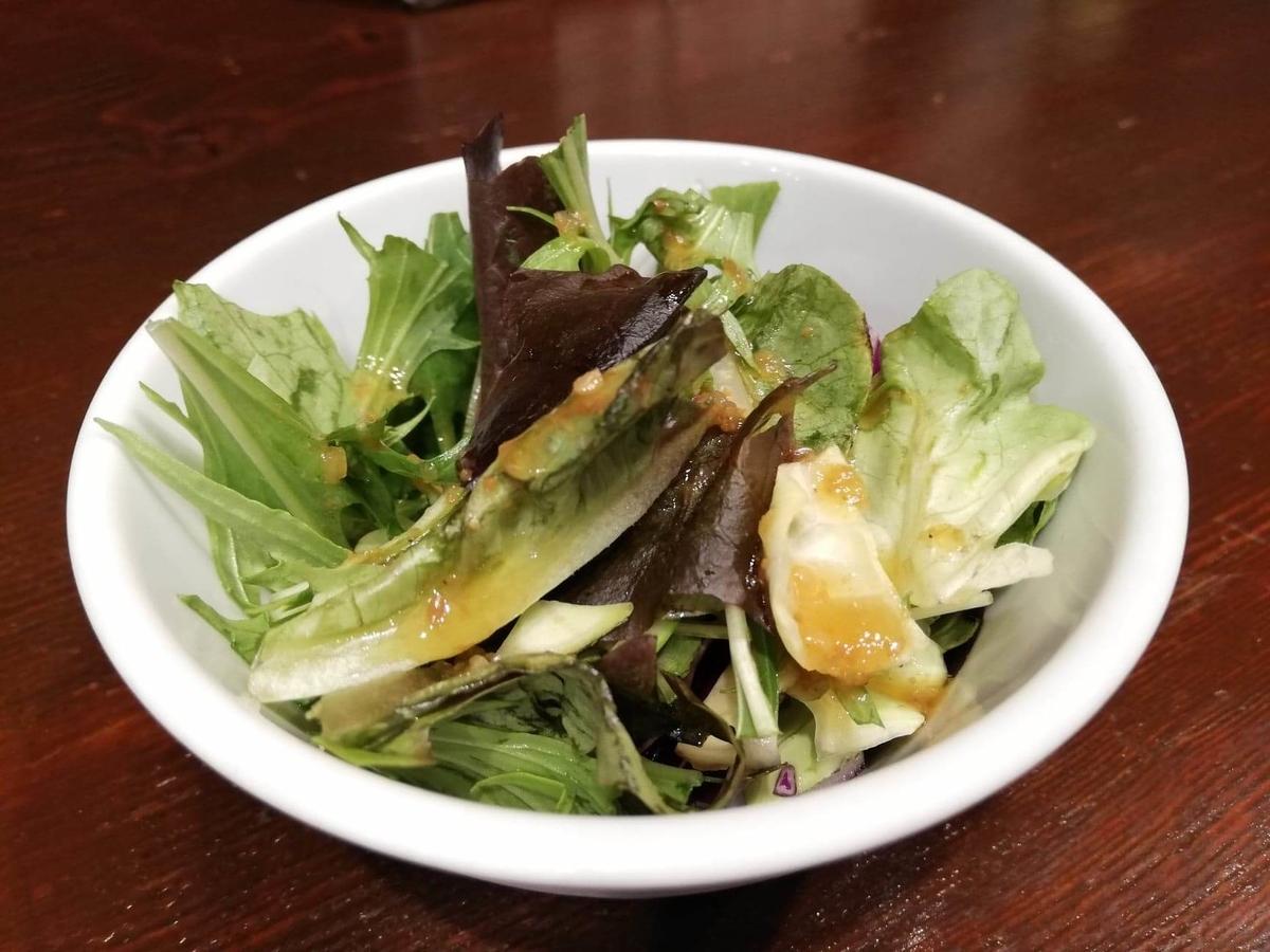 池袋『札幌牛亭』の、平日ランチタイム限定ハンバーグステーキセットのサラダの写真