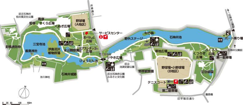 石神井公園のマップ写真