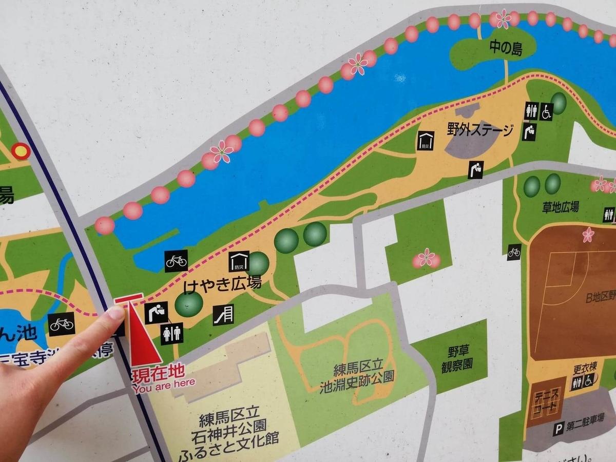 『石神井公園』の園内マップ写真