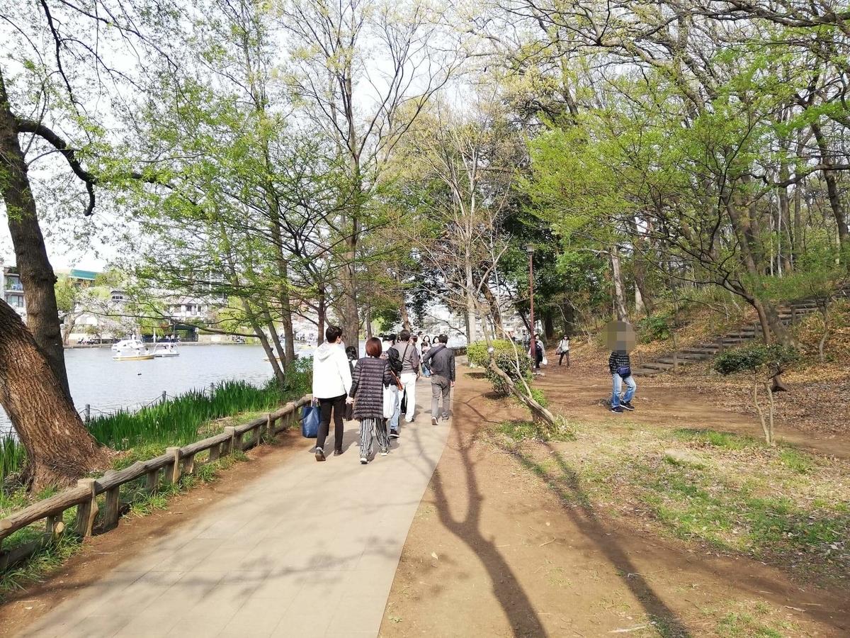 『石神井公園』の石神井池沿い通路の写真