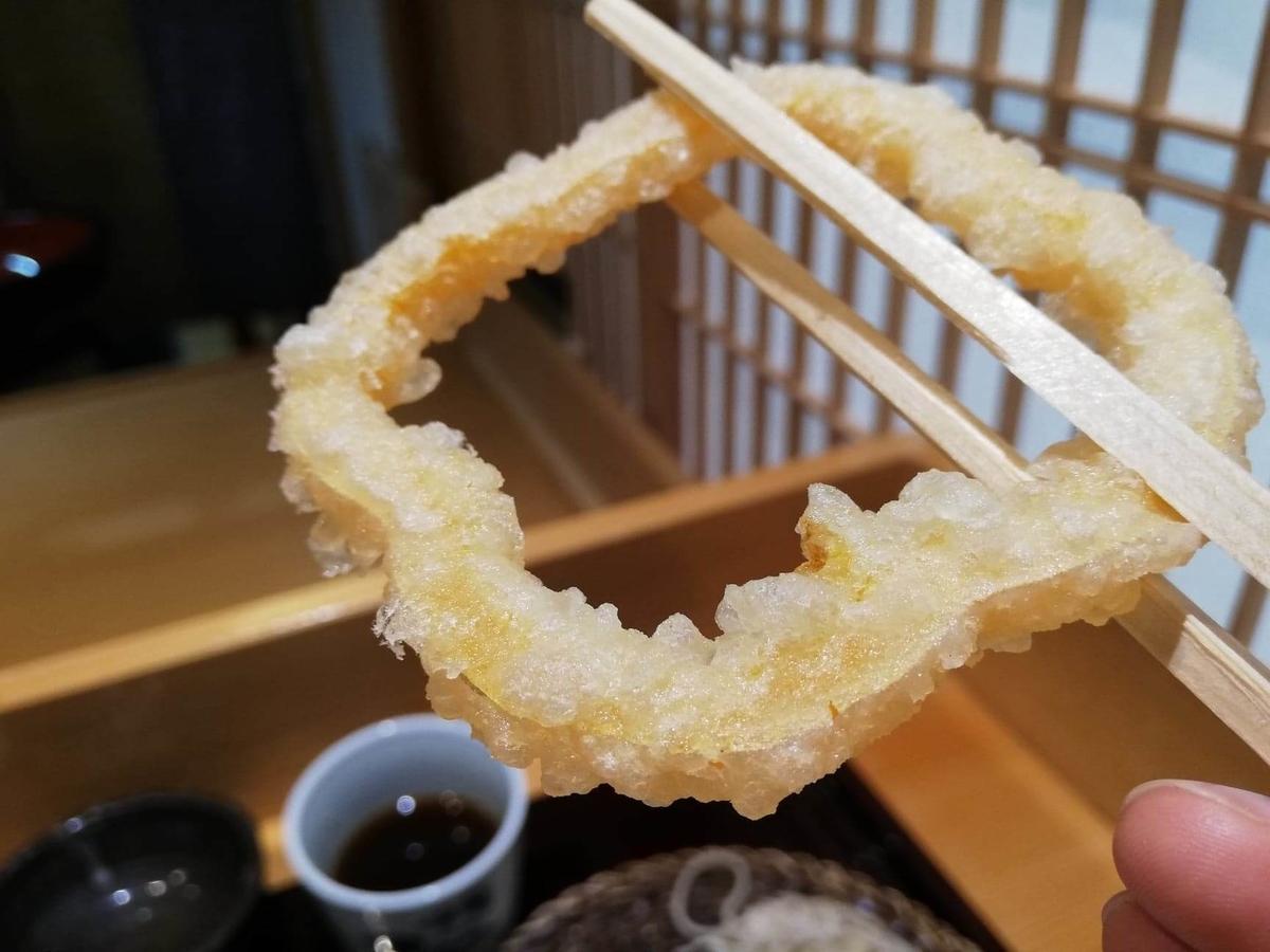 稲田堤『石づか』のパプリカの天ぷらの写真