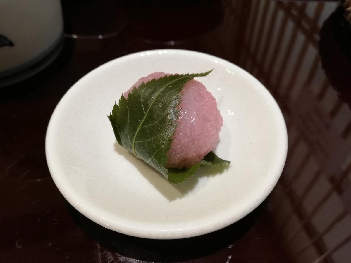 稲田堤『石づか』の桜餅の写真