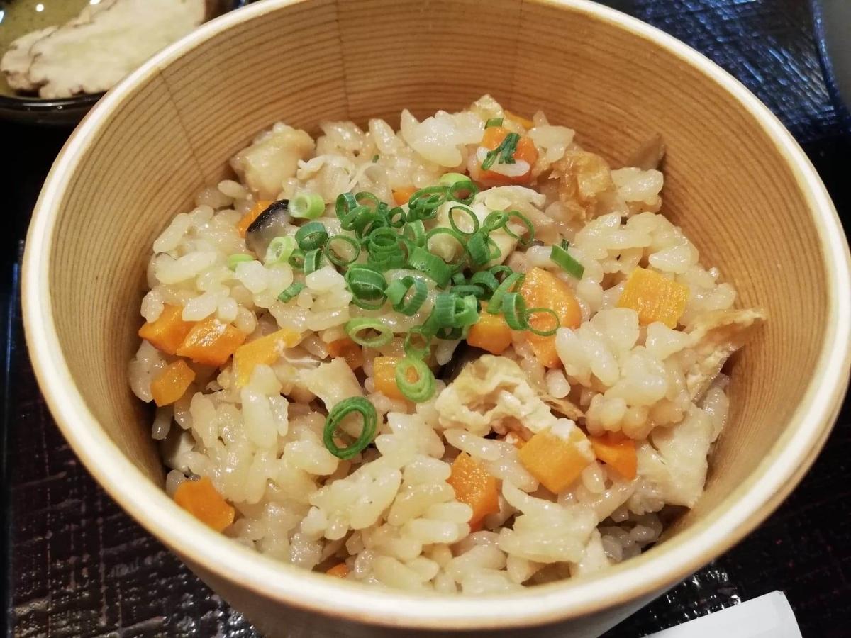 稲庭うどん『佐藤養助』秋田店の比内地鶏ご飯の写真