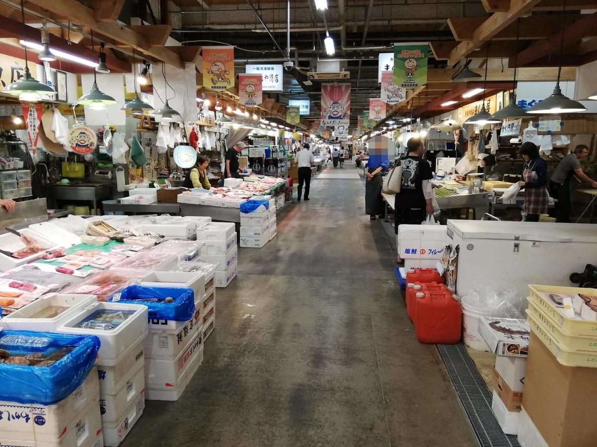 秋田市民市場の場内写真⑥