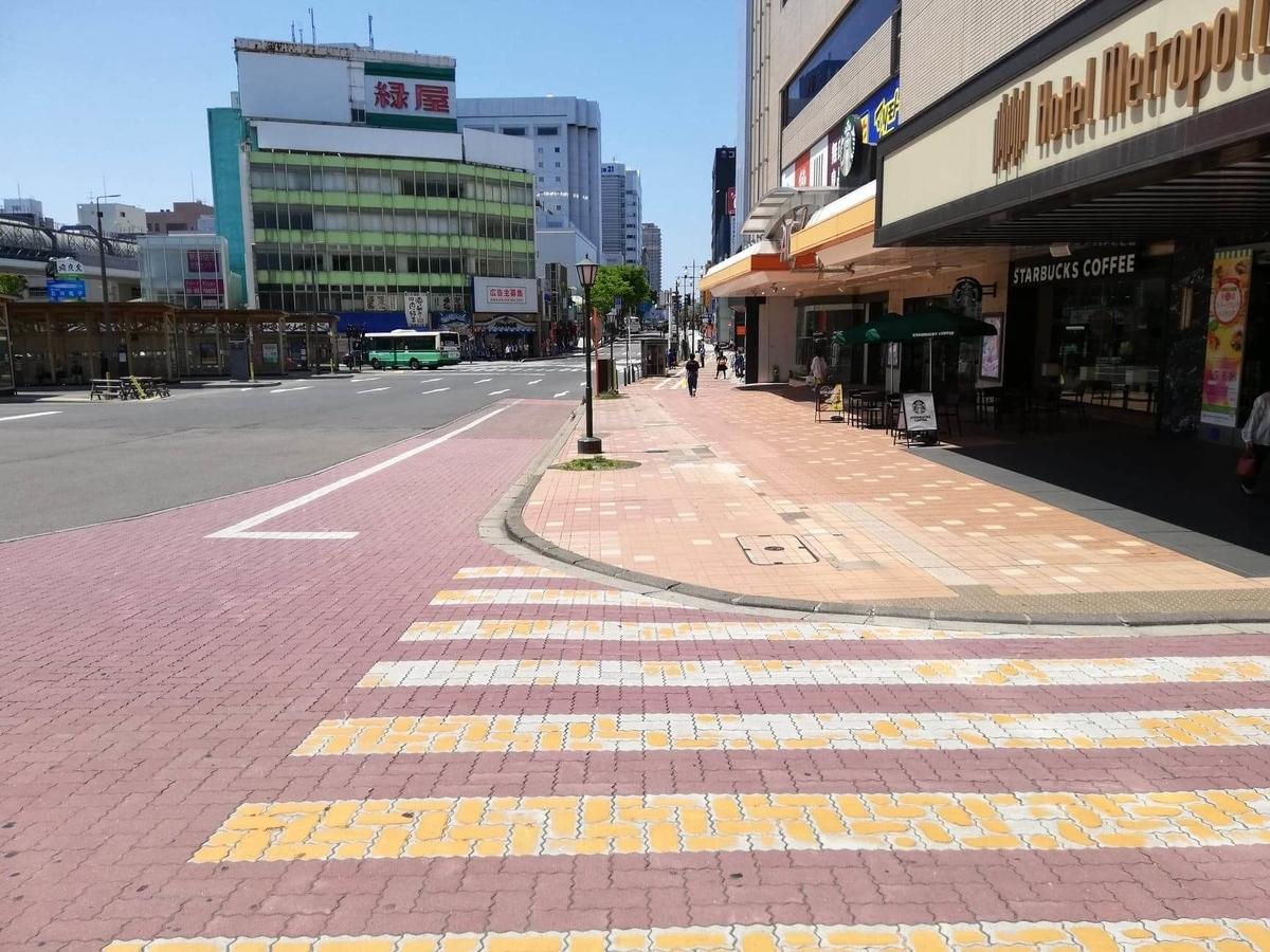 秋田駅から『秋田きりたんぽ屋大町分店』への行き方写真(3)