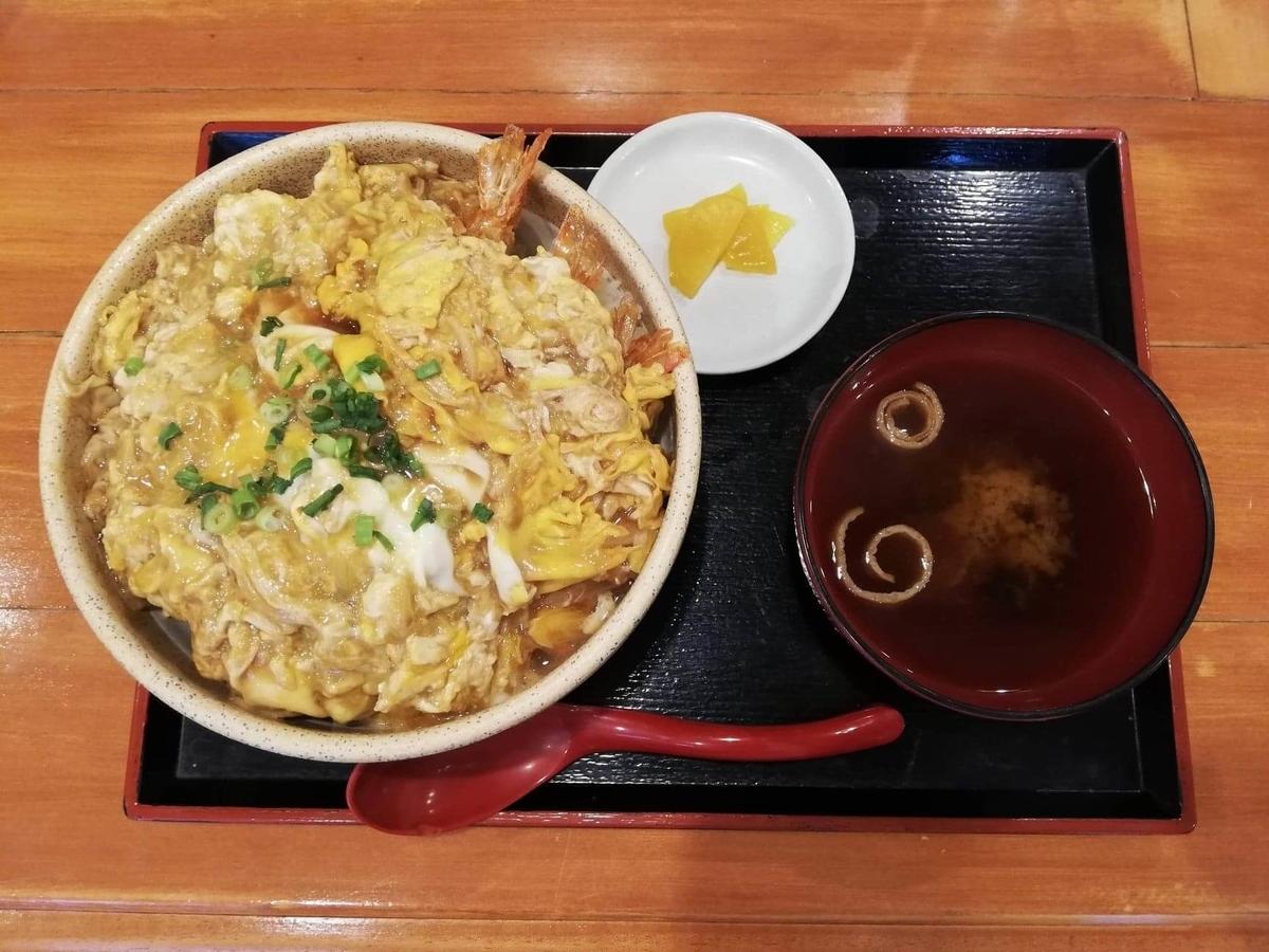 大宮『杉本の店』の海老フライ丼セットの写真