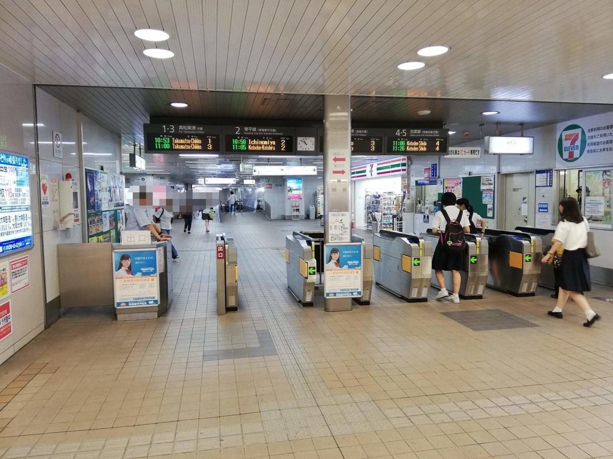 瓦町駅から香川県高松市『骨付鳥一鶴』への行き方写真①