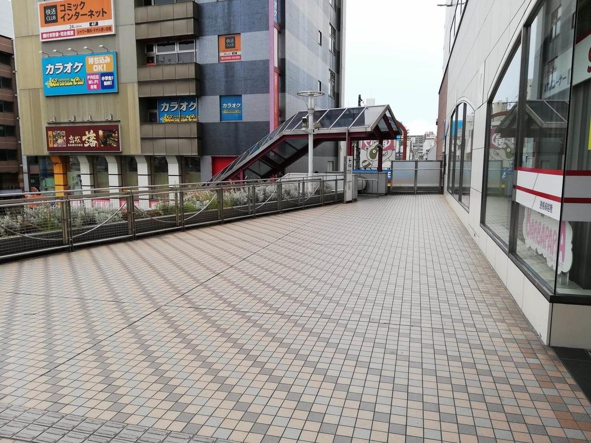 瓦町駅から香川県高松市『洋食おなじみ』へのアクセス写真③