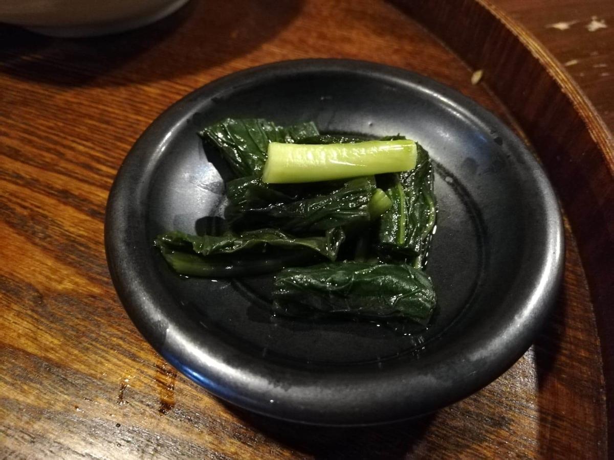 長野県松本市中町通り『食い飲み屋 BUN』のおひたしの写真