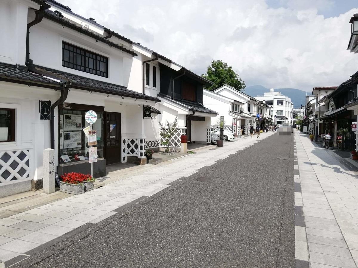 長野県松本市中町通りの景観写真①
