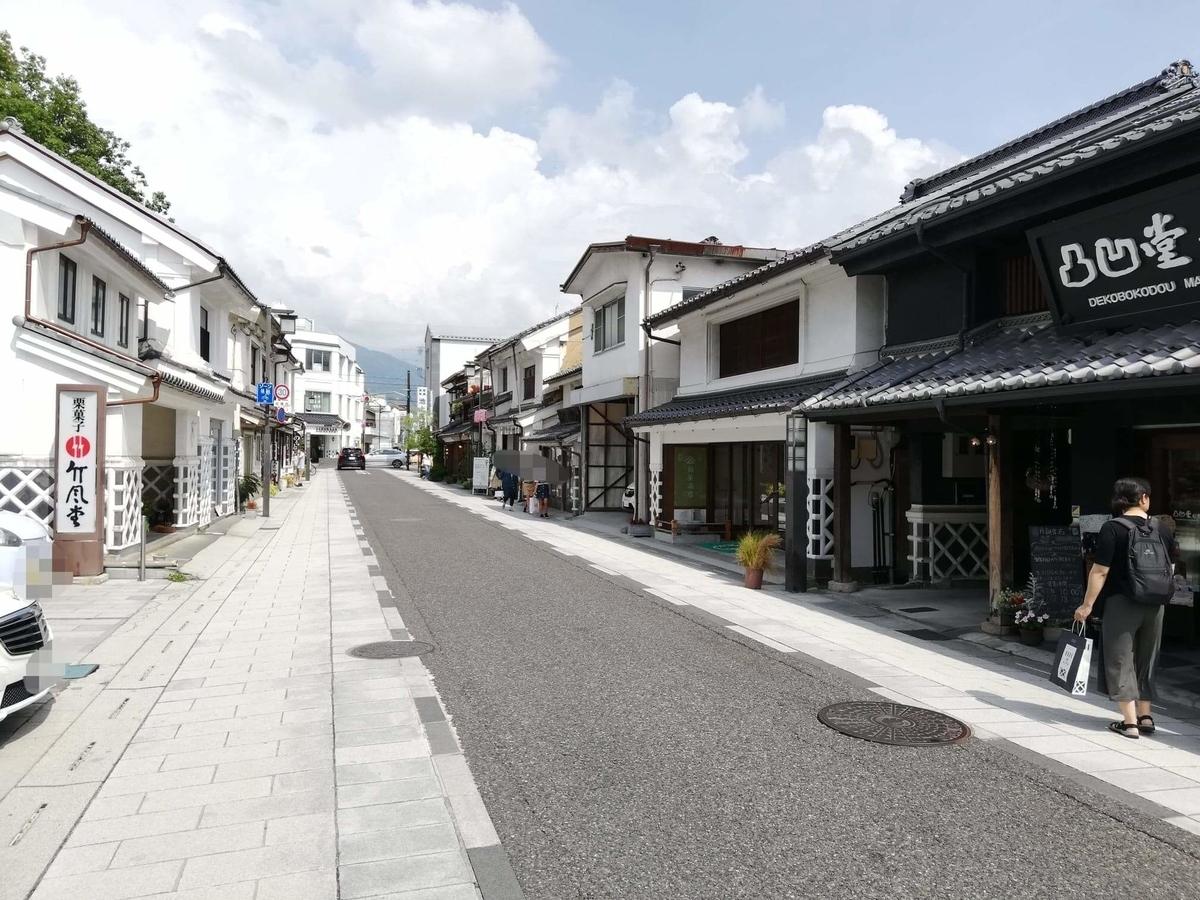 長野県松本市中町通りの景観写真②