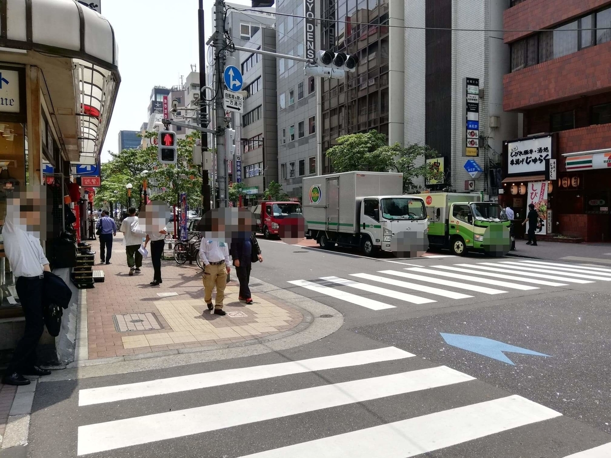 新橋駅から『洋食すいす』への行き方写真(6)