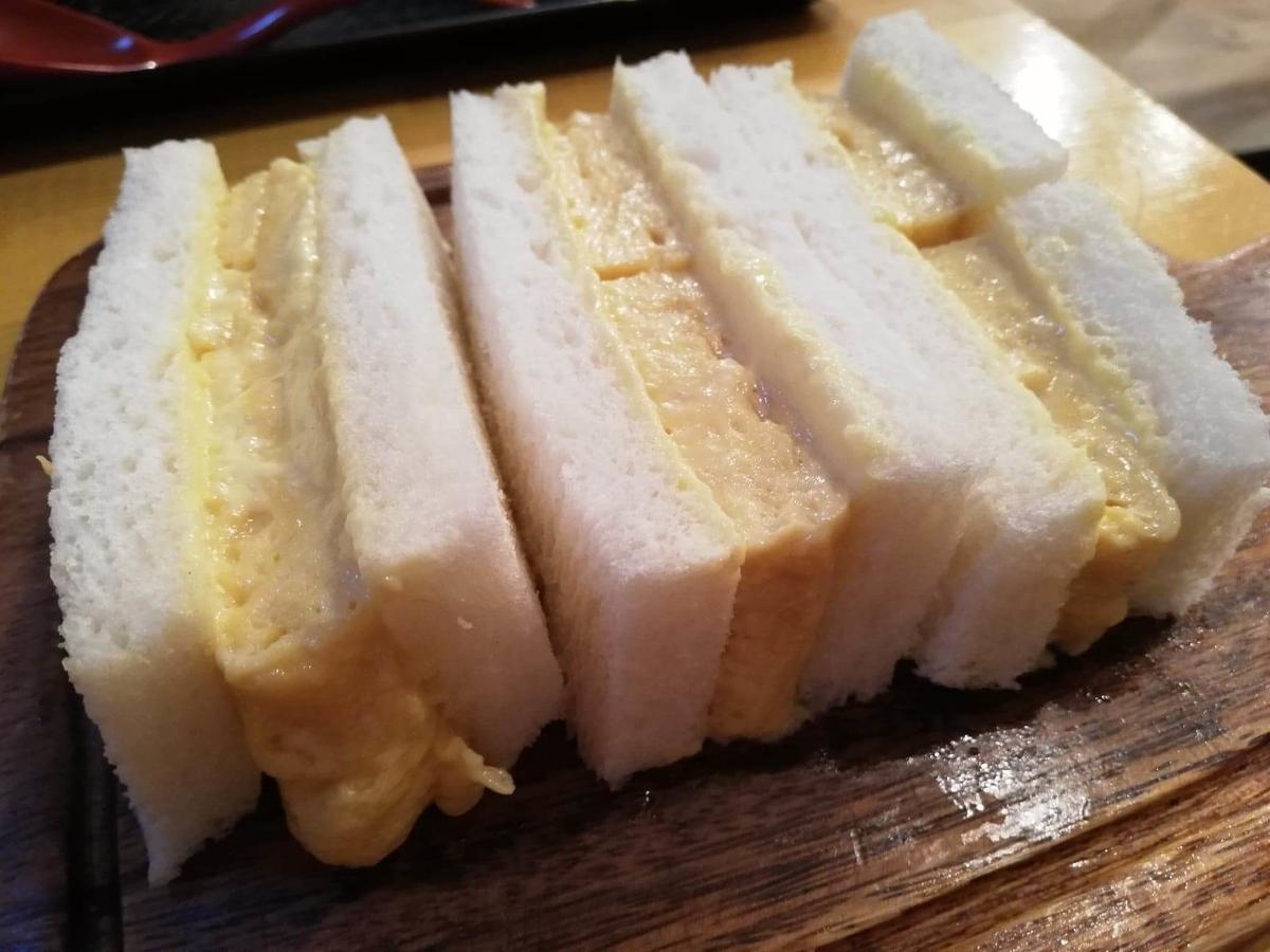 本川越『小江戸オハナ』の、貴婦人の卵サンドの写真