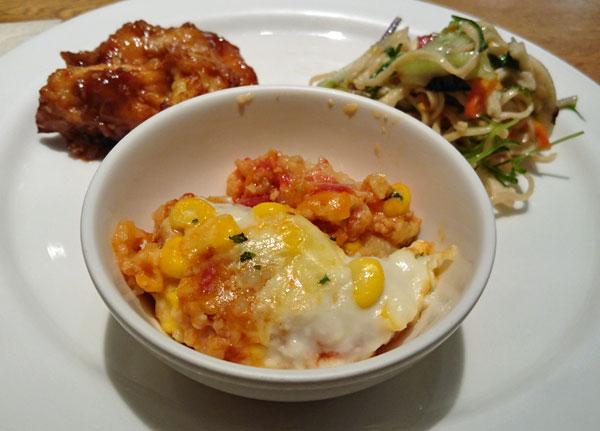 ミートソースの野菜グラタン