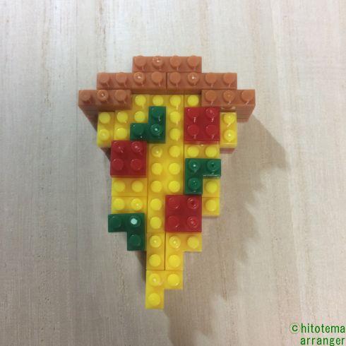 ダイソーのプチブロック(ピザとメロンソーダ)
