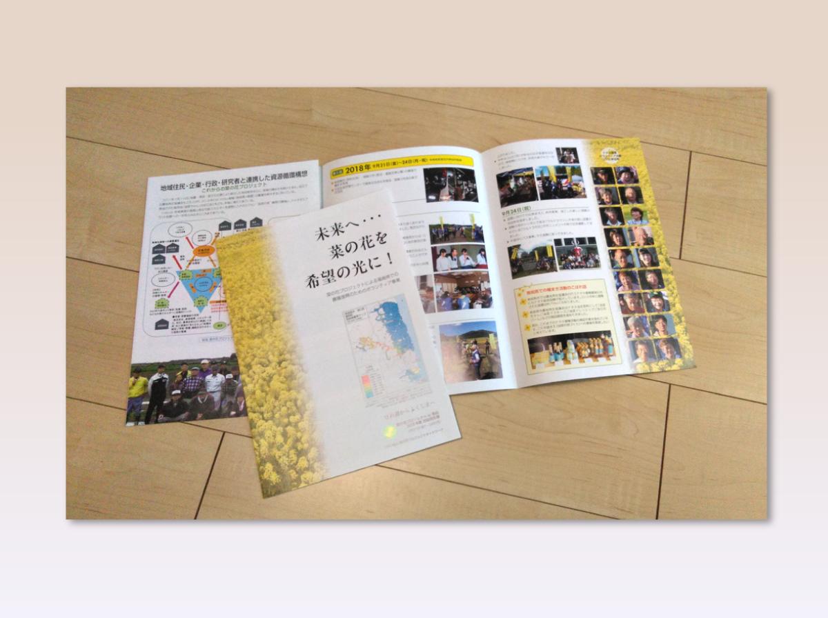 プロジェクト報告パンフレット制作