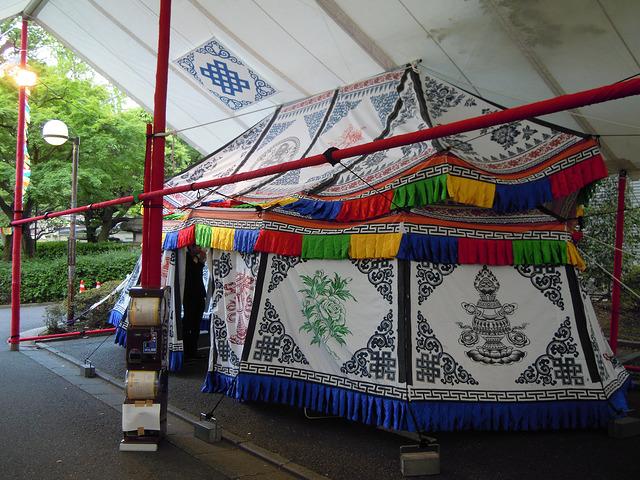 チベットのテント