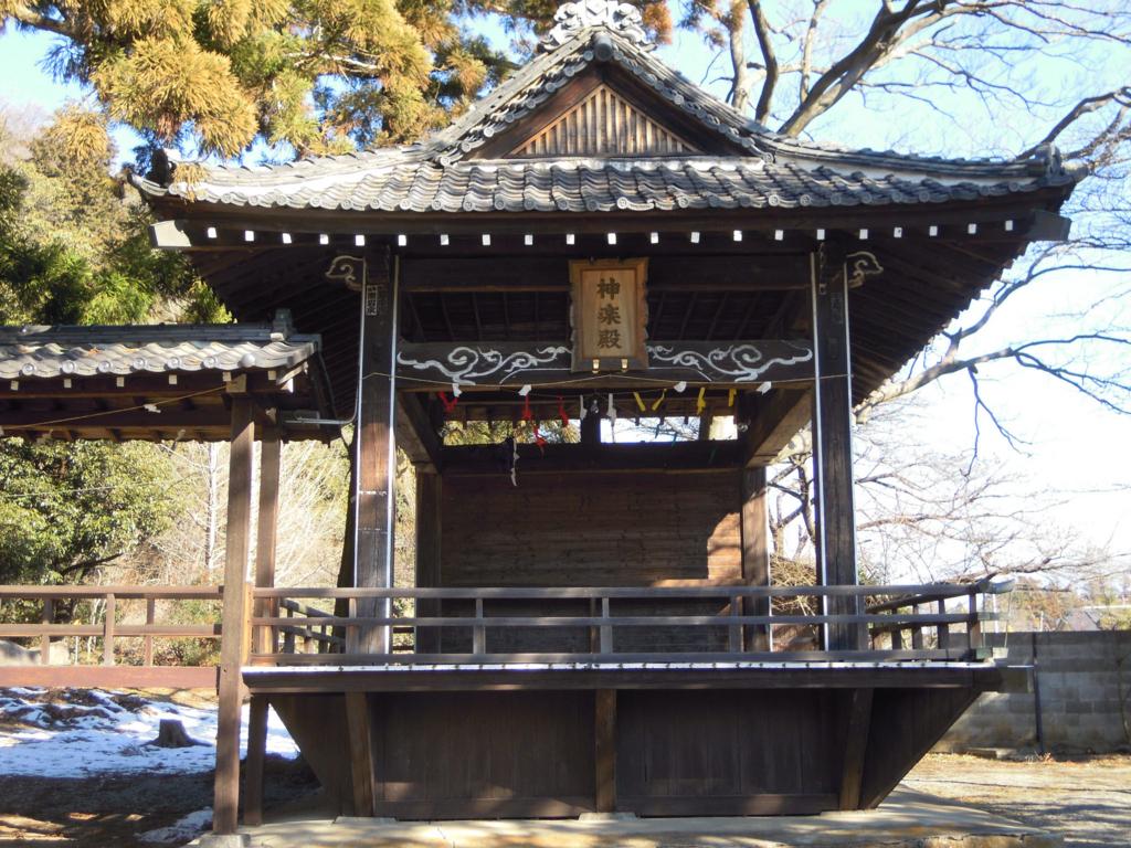 山梨岡神社の神楽殿