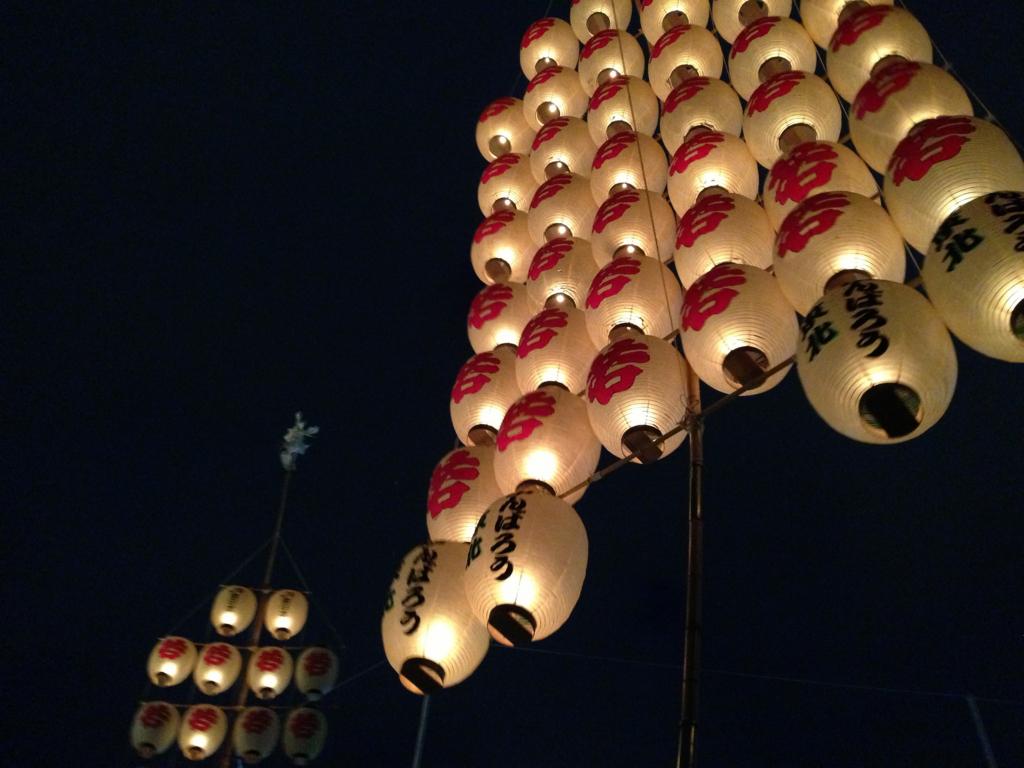 夜竿燈の提灯