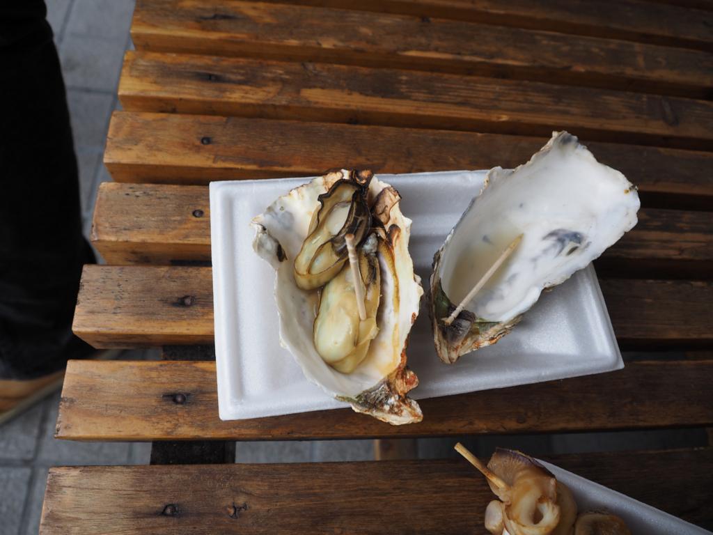 牡蠣の浜焼き