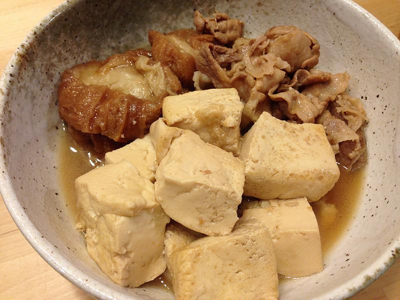 仙台麸入肉豆腐