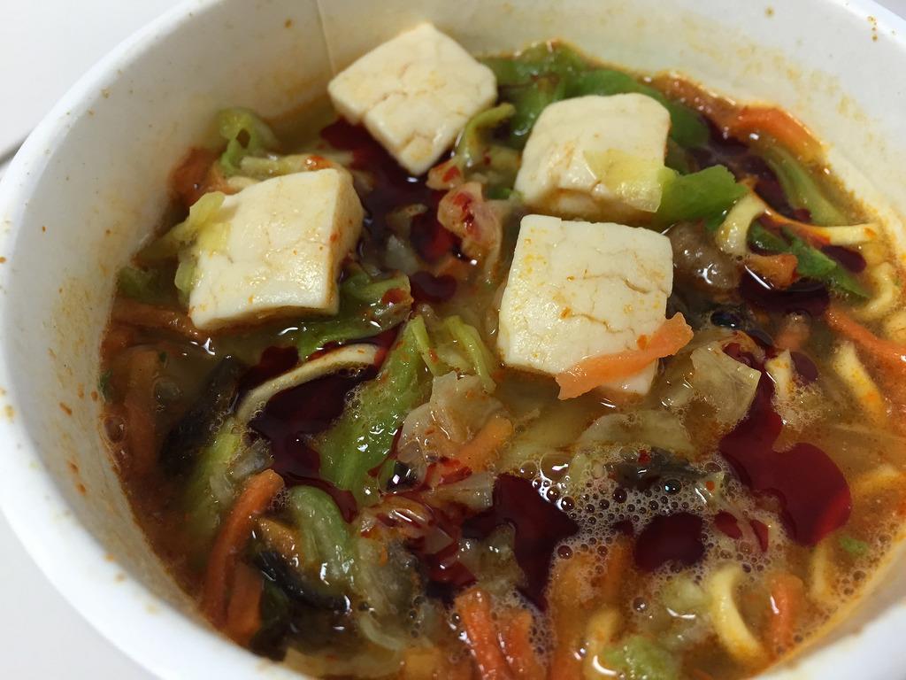 蒙古タンメン中本カップ麺を作った