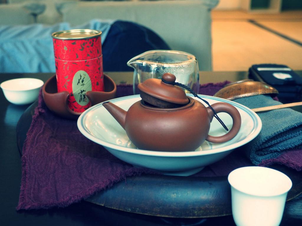 オリジナル茶筒と茶壷