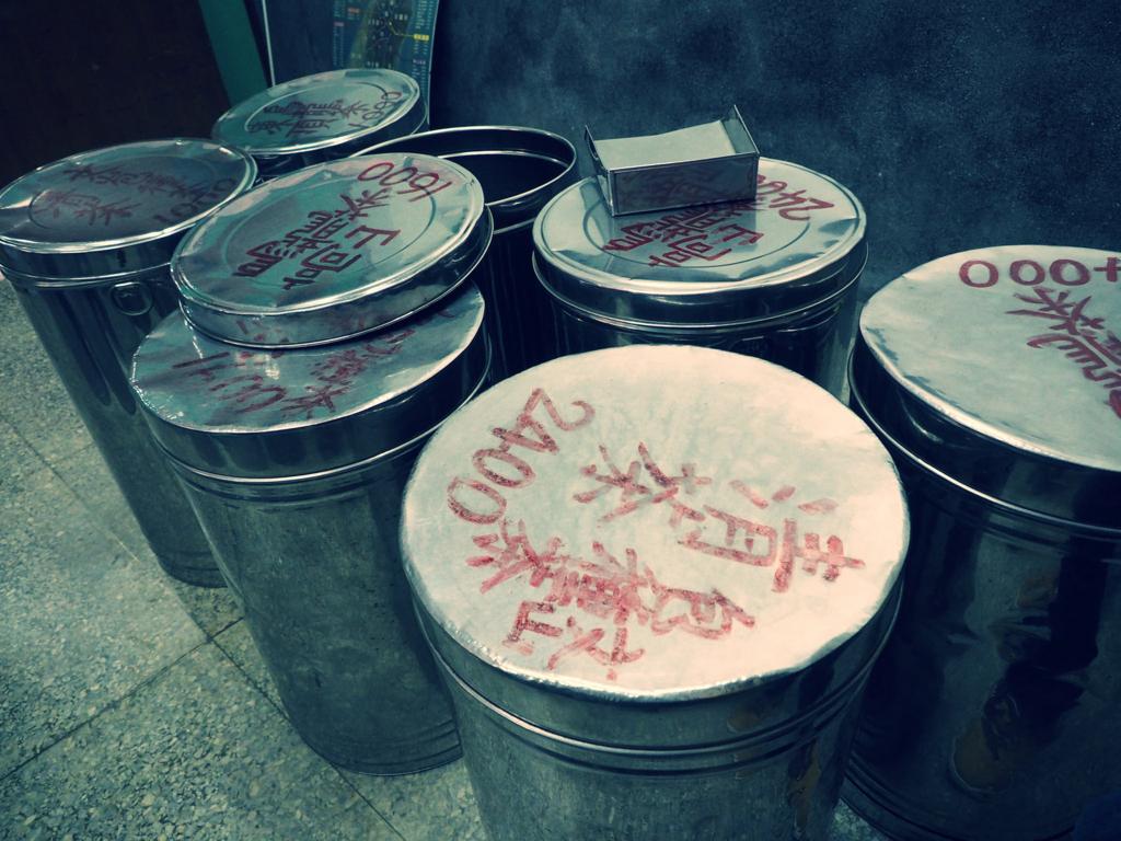 林華泰茶行のドラム缶
