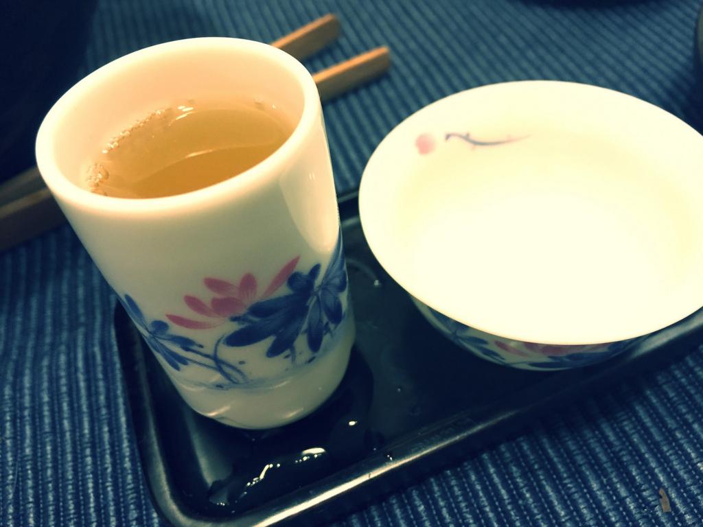 蓮の花モチーフの対杯