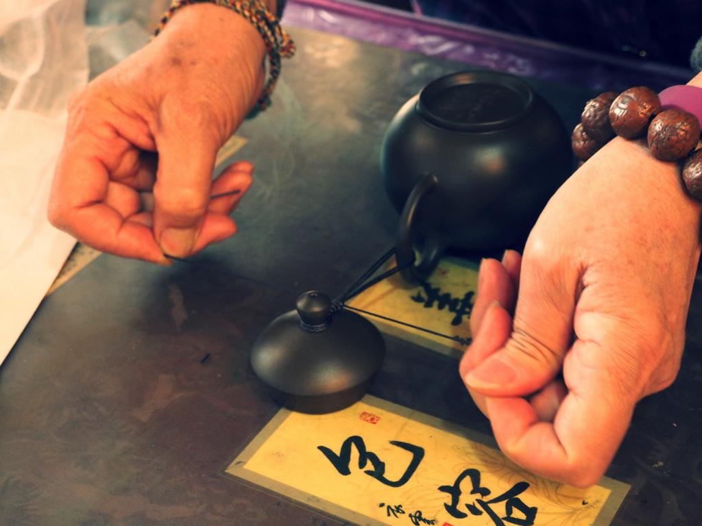 七子陶藝社で購入時に紐をかけてもらった
