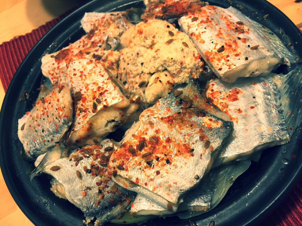 太刀魚の蒸し物