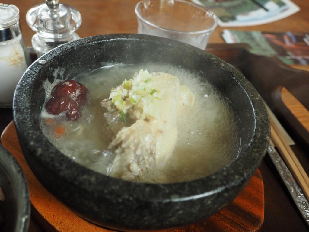 参鶏湯のランチ