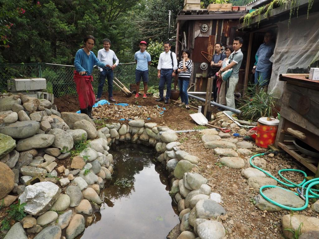 人工の池も作っている