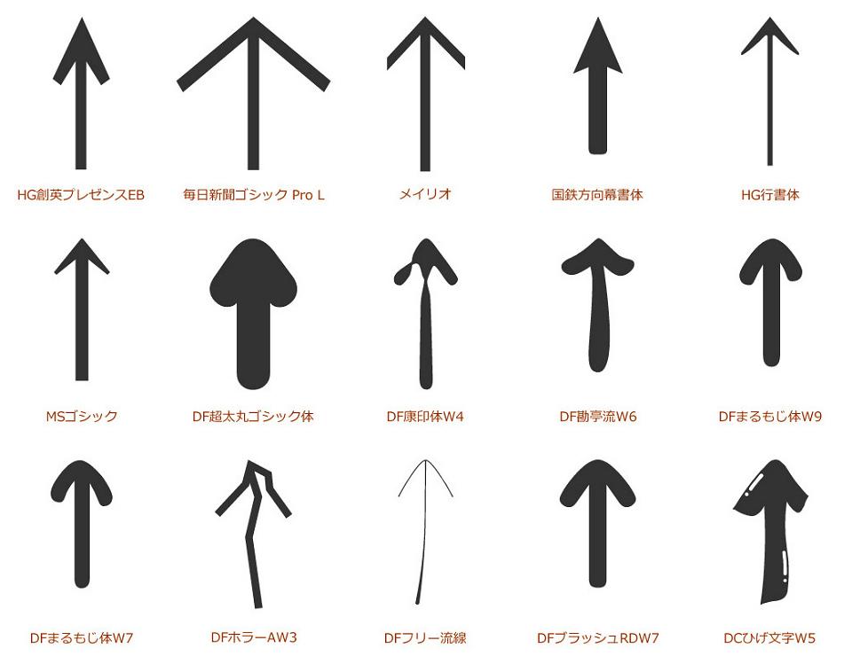 矢印コレクション画像
