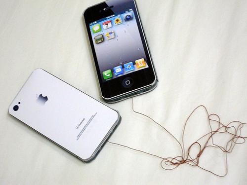 振動通話機能付 iPhone4