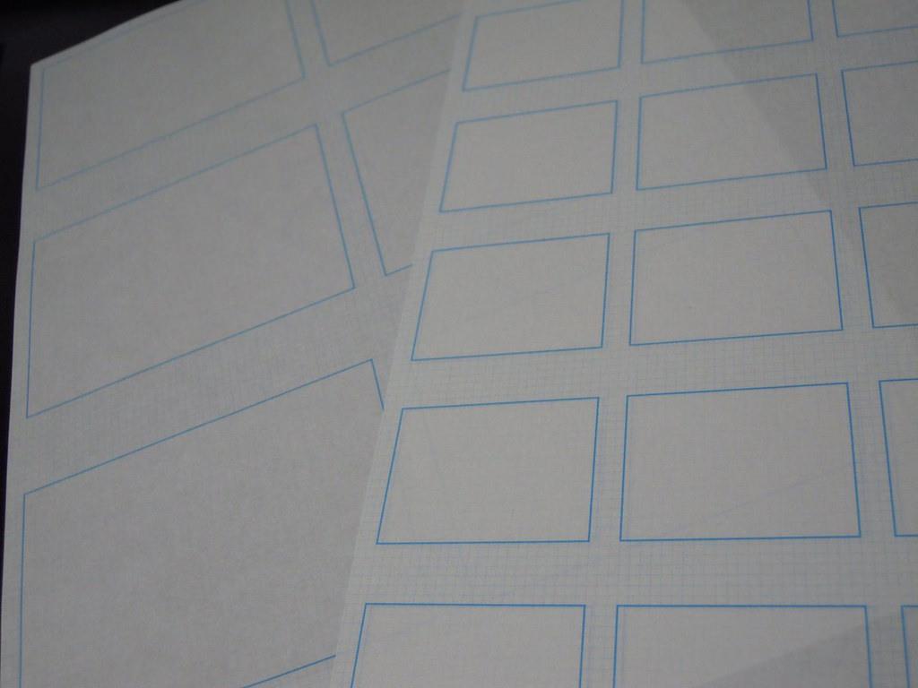 手書き作業用のテンプレート