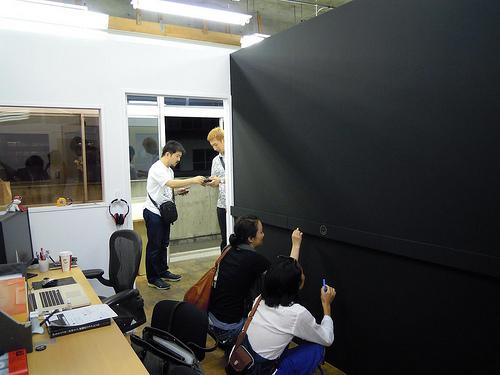 まだまっさらな黒板