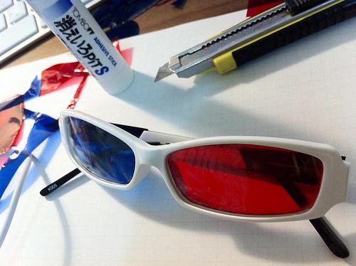 ほぼ完成した3Dメガネ