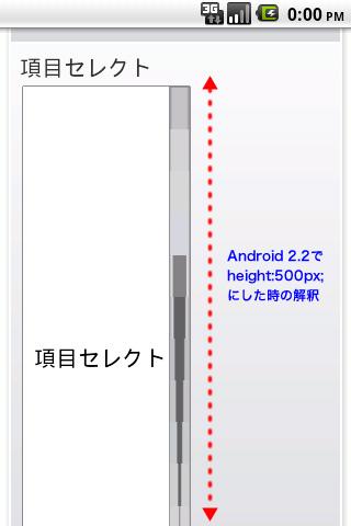 Android Emulator 2.2 での表示