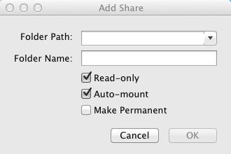Add Share ボタンを押した画面