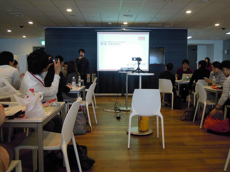 HCD-Net サービスデザイン方法論1「エスノグラフィ」の様子